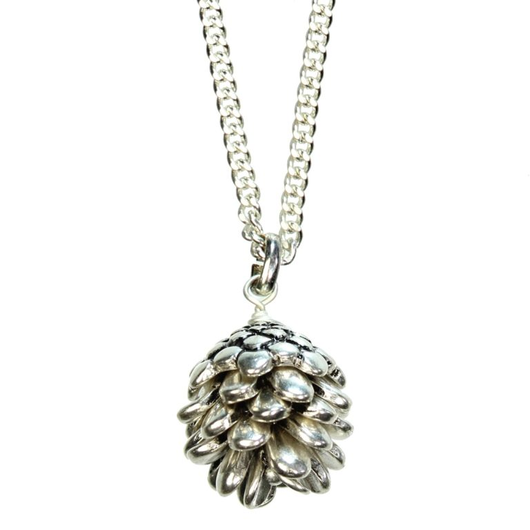 Hultquist Pine Cone Short Necklace Silver 1280S