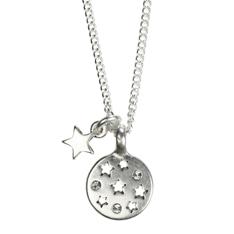 Hultquist Moon & Stars Short Necklace Silver 1293S