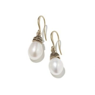 Hultquist Pearl Twist Hook Earrings Rose Gold 04309RG