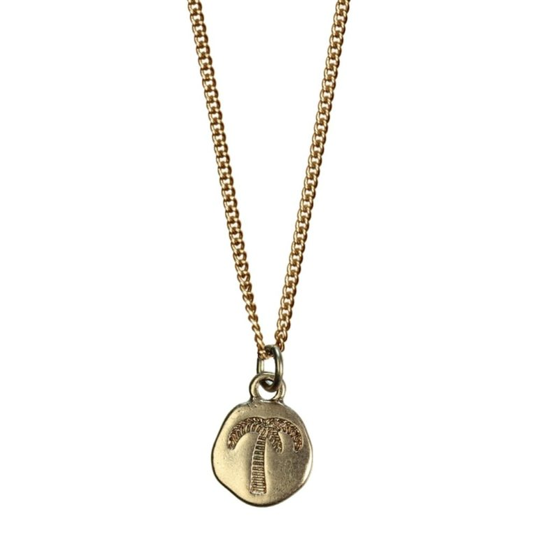 Hultquist Engraved Palm Tree Necklace Rose Gold 04304RG