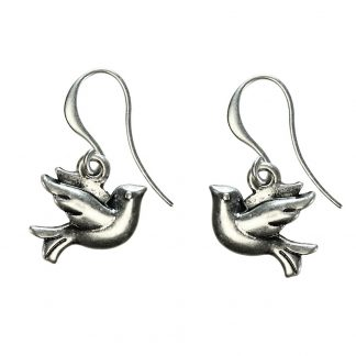 Hultquist Little Bird Hook Earrings Silver 04310S