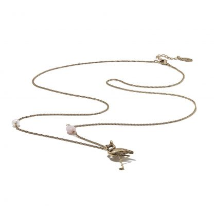 Hultquist Flamingo Long Rose Gold Necklace 1360RG