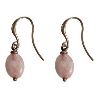 Hultquist Oval Rose Bead Earrings 1363RG
