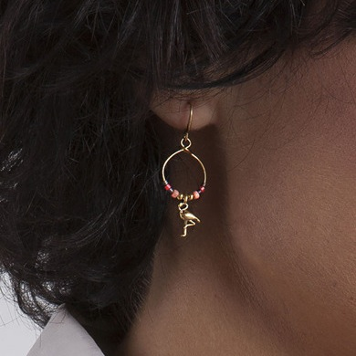 Hultquist Flamingo Earrings 1364G