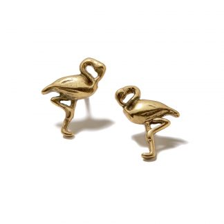 Hultquist Flamingo Stud Earrings Gold 1365G
