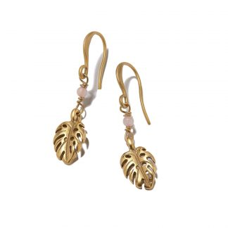 Hultquist Monstera Leaf Hook Earrings Gold 1372G