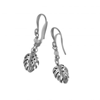 Hultquist Monstera Leaf Hook Earrings 1372S