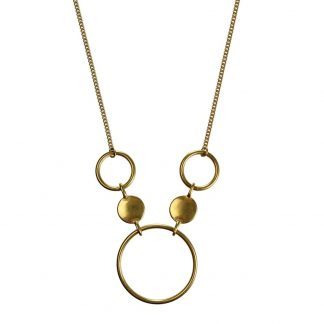 Hultquist Coins & Circles Necklace Gold 1383G
