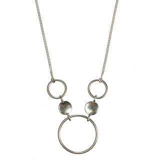 Hultquist Coins & Circles Necklace Silver 1383S