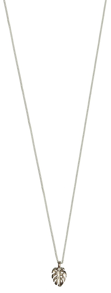 Hultquist Mini Monstera Leaf Necklace Silver Rose Gold 1404SRG