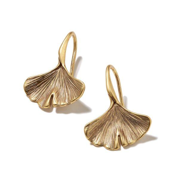Hultquist Gingko Leaf Earrings Gold 1413G