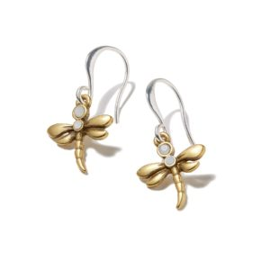 Hultquist Dragonfly Hook Earrings Gold Silver 1421BI