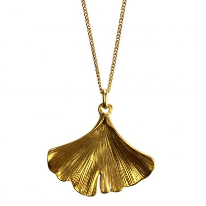 Hultquist Gingko Leaf Necklace Gold 1431G