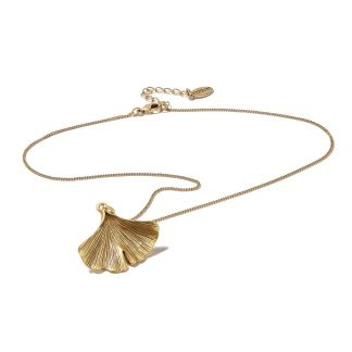 Hultquist Gingko Leaf Necklace Gold 1431G