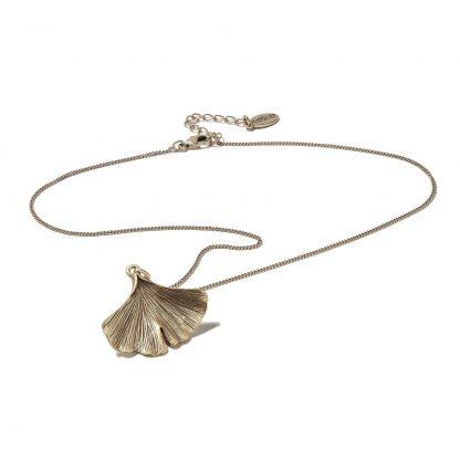 Hultquist Gingko Leaf Necklace Rose Gold 1431RG
