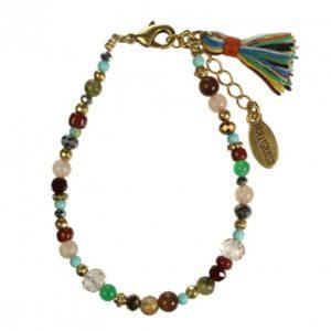 Hultquist Glass Bead Bracelet Gold 1406G