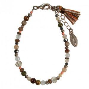 Hultquist Glass Bead Bracelet Rose Gold 1406RG