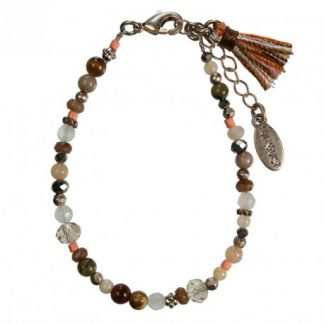 Hultquist Glass Bead Bracelet Rose Gold 1406RG