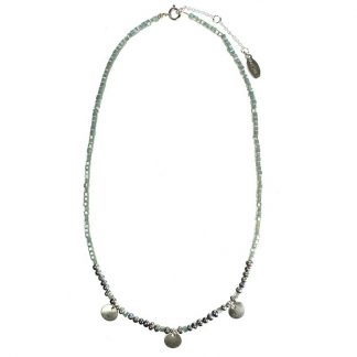 Hultquist Coin & Pearl Necklace Silver 1415S