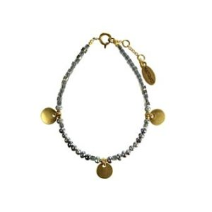 Hultquist Coin & Pearl Bracelet Gold 1416G