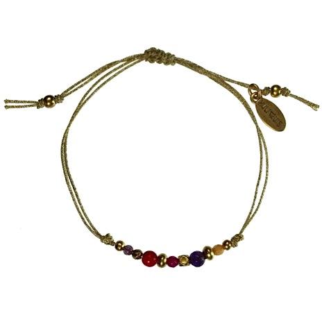 Hultquist Nordic Minimalism Macrame' Bracelet Gold 1429G