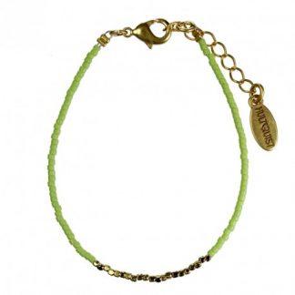 Hultquist Japanese Bead Bracelet Gold Lime 1430G-L