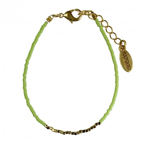 Hultquist Japanese Bead Bracelet Gold Lime 1430G-L