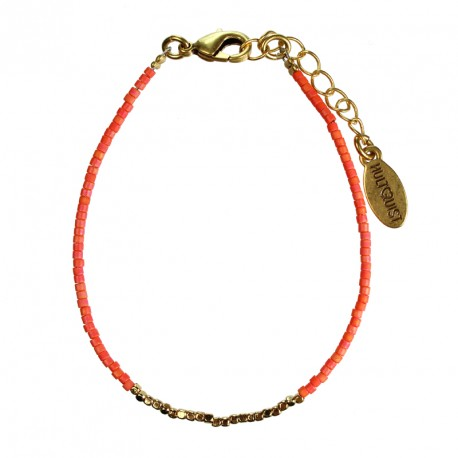Hultquist Japanese Bead Bracelet Gold Orange 1430G-O