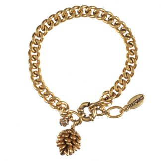 Hultquist Pine Cone Bracelet Gold 0404G