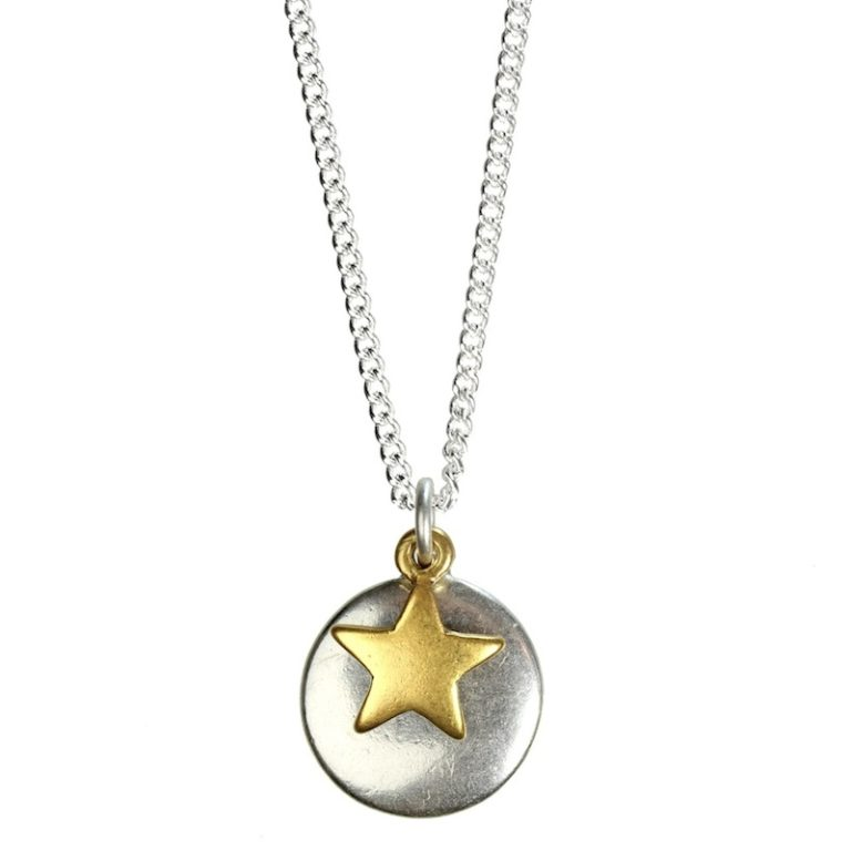 Hultquist Full Moon & Star Necklace Bicolour 1303BI
