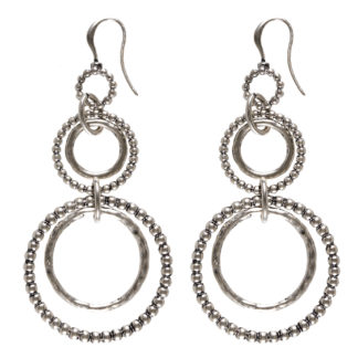 Hultquist Multi Hoop Earrings Silver 0334S
