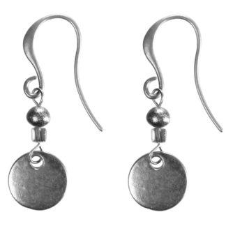 Hultquist Copenhagen Coin & Pearl Drop Hook Earrings Silver 1417S