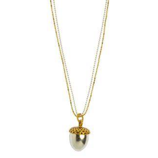Hultquist Acorn Pendant Necklace Silver/Gold 1338-BI