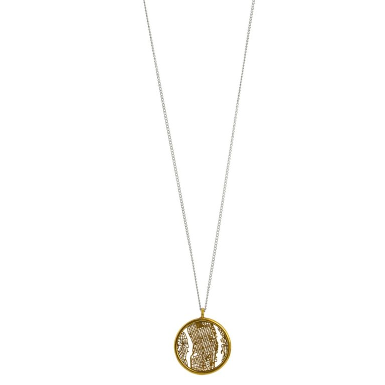Hultquist Manhattan Necklace Gold/Silver 1458-BI