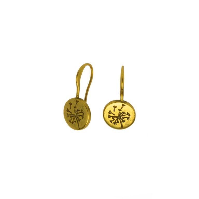 Hultquist Dandelion Hook Earrings Gold 1472-G