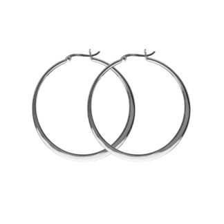 Hultquist Asta Large Hoop Earrings Silver S01006S