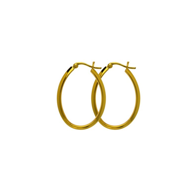 Hultquist Augusta Hoop Earrings Gold S01009-G