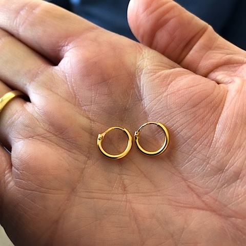 Hultquist Alice Mini Mini Hoop Earrings Gold S01016G