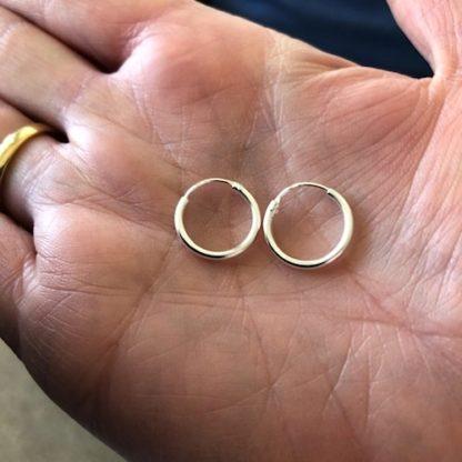 Hultquist Amanda Mini Hoop Earrings Silver S01017S