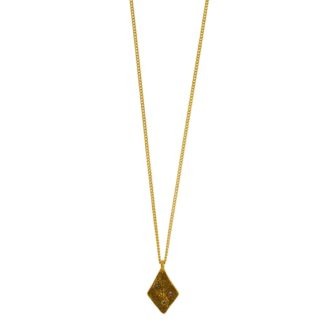 Hultquist Rhombus Necklace Gold with Coloured Stones 1442G