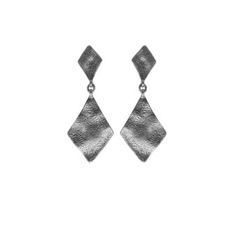 Hultquist Rhombus Statement Earrings Silver 1444S