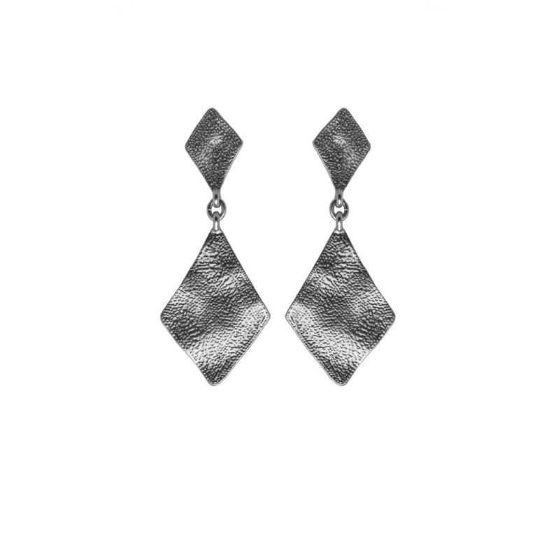 Hultquist Rhombus Statement Earrings Silver 1444S