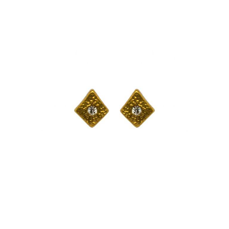 Hultquist Rhombus Stud Earrings Gold 1447G