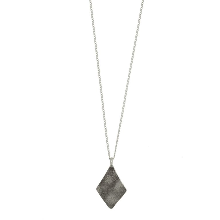 Hultquist Rhombus Long Chain Necklace Silver 1449S