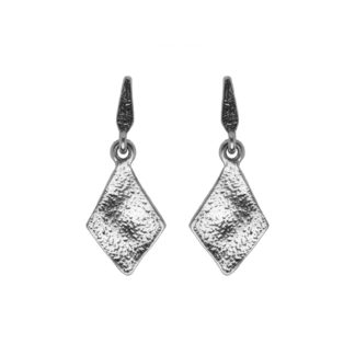 Hultquist Rhombus Drop Stud Earrings Silver 1450S