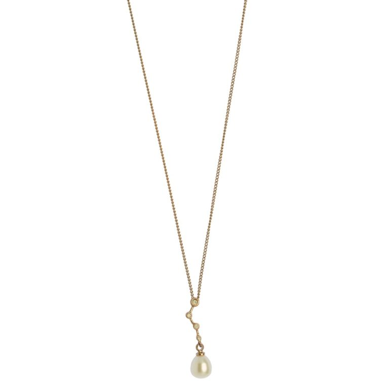 Hultquist Constellation Pearl Drop Necklace Rose Gold 1456RG