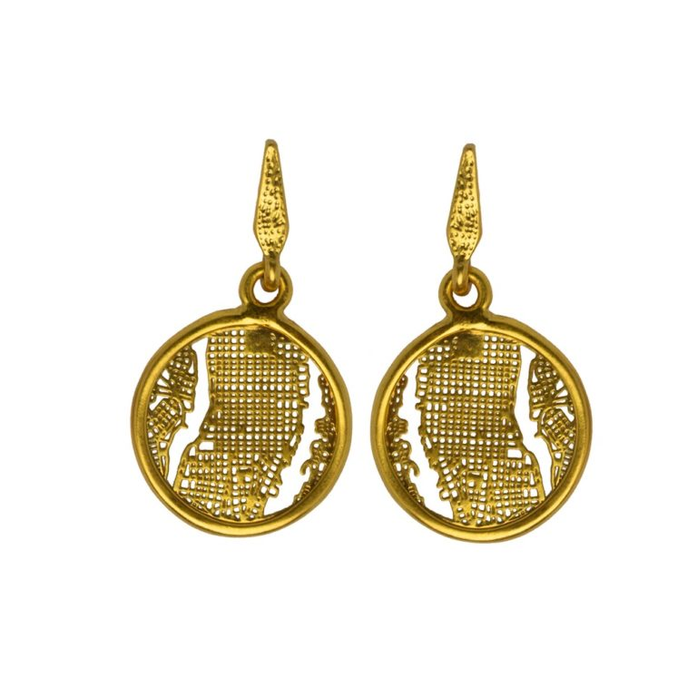 Hultquist Manhattan Earrings Gold 1457G