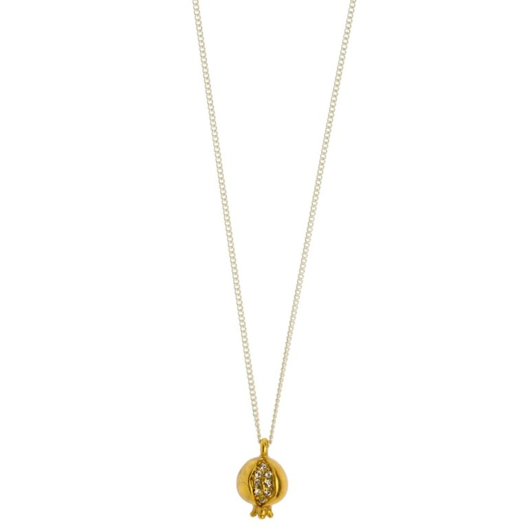 Hultquist Pomegranate Short Chain Necklace Gold Silver 1463BI