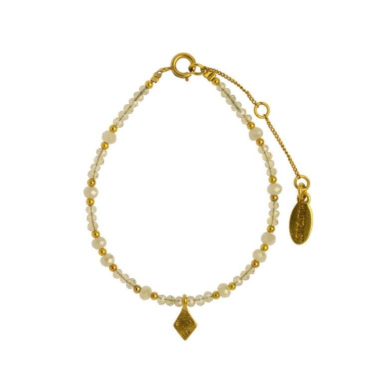 Hultquist Rhombus Bead Bracelet Gold 1475G