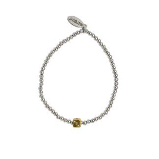 Hultquist Dice Elastic Bracelet Gold Silver 1480BI
